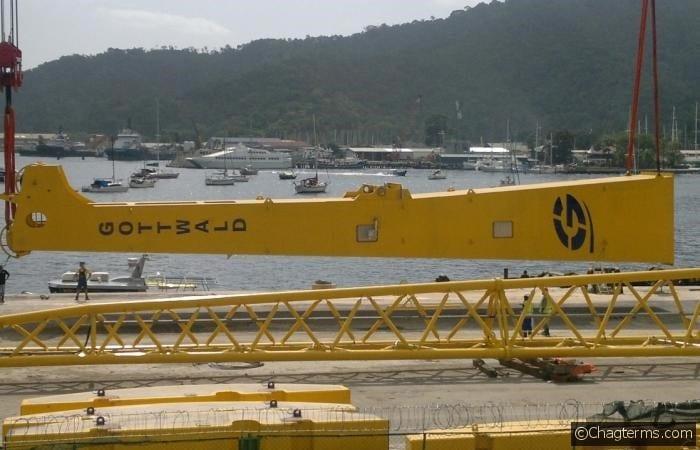 Shifting of Oldendorrf Crane Pedestal for loading to barge Max (Large)